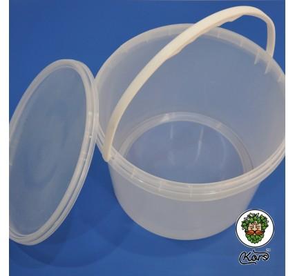 Ведро пищевое прозрачное 10 литров (бродильная емкость)