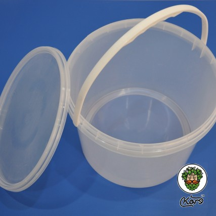 Ведро пищевое прозрачное 10 литров
