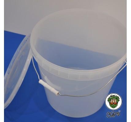 Ведро пищевое прозрачное 20,5 литров (бродильная емкость)