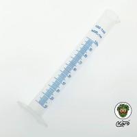 Колба пластиковая 100 мл. с синей разметкой