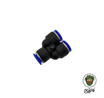 Тройник пуш фитинг 12 мм. (Y-образный)