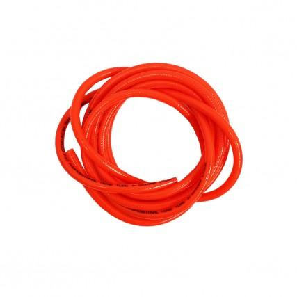 Шланг полиуретановый красный армированный 8х5.5 мм.