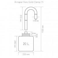 """Самогонный аппарат Kors Gold Clamp 1.5"""" 20 литров"""